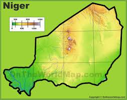 Physical Maps Niger Physical Map