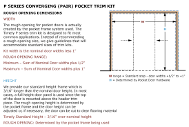 Closet Door Opening Size Openings Timely Industries
