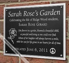 outdoor memorial plaques memorial plaques memory plaques bronze plaques custom