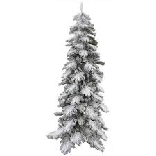 slim flocked artificial tree slim pre lit
