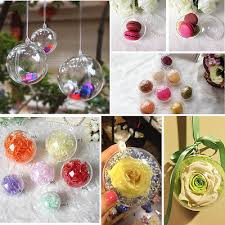 plastic clear decorations hanging bauble