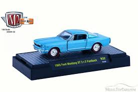 sky blue mustang 1965 ford mustang gt 2 2 fastback sky blue castline m2 machines