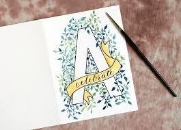 watercolor initial diy birthday card tutorial the postman u0027s knock