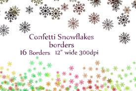 snowflake confetti clipart patterns creative market
