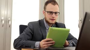 Man On Computer Meme - handsome confident young man using a tablet smiling smirking texting