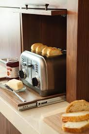 Kitchen Appliance Cabinets Kitchens With Pro Style Amenities Sugar Bread Closed Doors And