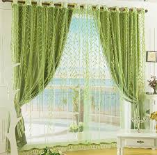 Green And White Curtains Decor Blackout Polyester Fabric Purple Color Best Bedroom Bedroom