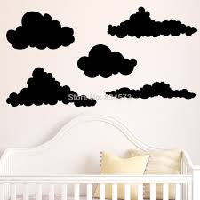hot cloud sky silhouette wall art stickers decal home diy hot cloud sky silhouette wall art stickers decal home diy decoration decor wall mural removable bedroom stickers 57x153cm in wall stickers from home