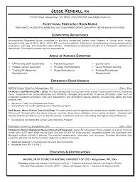 Good Resume Objectives Healthcare by Emergency Room Nurse Resume Berathen Com