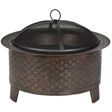 fire pit parts amazon com cobraco woven base cast iron fire pit fbciwoven bz