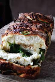 bakeaholic mama spinach feta pull apart garlic bread