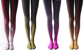 gradient color velvet tights purple pantyhose cute fashion