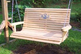 furniture fancy wooden porch swings with iron holder for patio