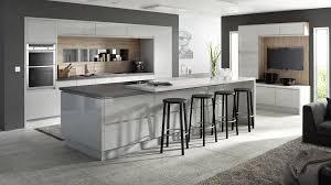 Grey Kitchen Integral Gloss Light Grey Our Kitchens Mackintosh Kitchens