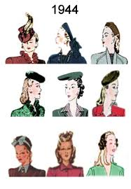 hairstyles late 40 s 1944 image of c20th fashion history hair and hat styles