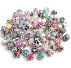 pandora make bracelet images Free shipping 50pcs mix color oil drip beads fit european pandora jpg