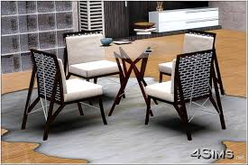 Dining Room Tables And Chairs For 4 Wire Dining Room Glass Table And Chair For Sims 3 4sims