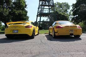 porsche cayman yellow cayman vs 911 porsche 911 targa 4 the cayman gt4 could spell