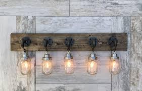 Country Style Pendant Lights Amazing Jar Vanity Light 5 Country Style Pendant Vanity