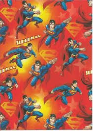 superman wrapping paper 10 sheets superman folded heros gift wrapping wrap paper