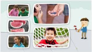 kids photo album free powerpoint templates to present your photos with style