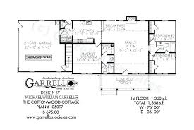 one cottage plans one floor cottage house plans cottonwood cottage house plan floor