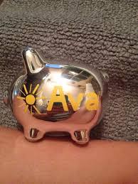 personalized silver piggy bank personalized silver piggy bank or tirelire home decor