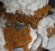 carrot cake with cream cheese and coconut frosting flourgirl