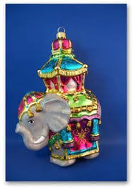 rare collectible glass christmas ornament ceremonial elephant