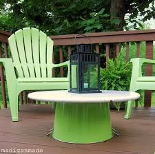 Diy Patio Coffee Table Update Your Outdoor Space On The Cheap With Bright Apple Green