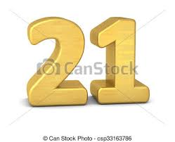 21 Stock Illustration 3d Number 21 Gold Csp33163786 Eps