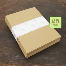 blank notecards with envelope size a2 kraft brown cards and