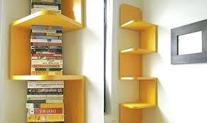 Corner Bookcase Wood Corner Book Shelves Wood Corner Bookcase Unit Wood Corner