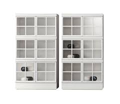high bookcase contemporary lacquered wood lacquered metal