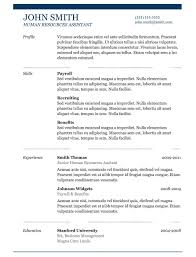 Resumes Templates Free Basic Free Resume Template Microsoft Word Sample Resume Format Template
