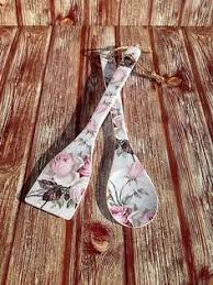 Cottage Kitchen Accessories - shabby spoons wooden utensils decorative spoons shabby chic