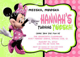 Create Birthday Invitation Cards Minnie Mouse 2nd Birthday Invitations Kawaiitheo Com