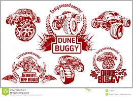 bigfoot monster truck logo dune buggy and monster truck vector badge stock vector image