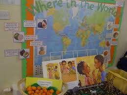 where in the world display classroom display class display