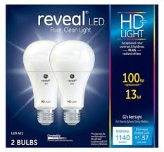 ge led light bulbs ge reveal hd 100w replacement led light bulbs general purpose a21