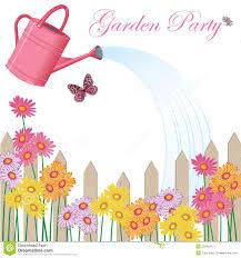 garden party invitation royalty free stock photo image 23549415