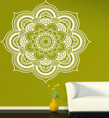 Lotus Flower Wall Decal Om by Aliexpress Com Buy Mandala Menhdi Flower Pattern Wall Decal