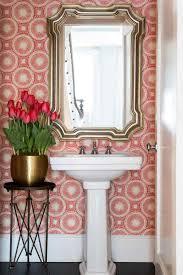 beautiful powder rooms powder room wallpaper blue home interior decor