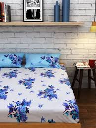 buy raymond home off white cotton double bedsheet with 2 pillow