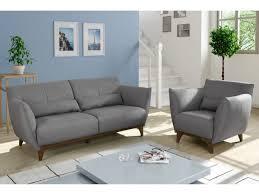 canapé et fauteuil en tissu gris ou bleu nuit luanda