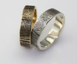 unique wedding band ideas fabulous wedding bands with fingerprint general