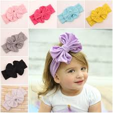 big bows for hair new children big bow tie bandanas girl baby cloth headbands hair