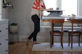 Benefit Of Standing Desk by Honeysuckle Working From Home Using A Standing Desk