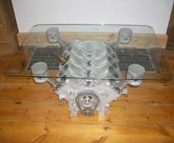 How To Decorate A Coffee Table V8 Engine Table 8 Steps With Pictures