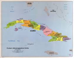 Map Cuba Large Scale Detailed Map Of Cuban Administrative Units 1986
